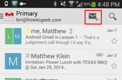 predmetna linija za upoznavanje e-pošte