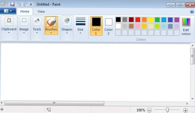 Windows 7 MS Paint Review (Windows 7)