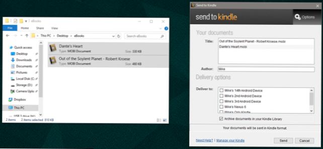 Cara memuat eBook DRM-Free ke Kindle Anda (Bagaimana caranya