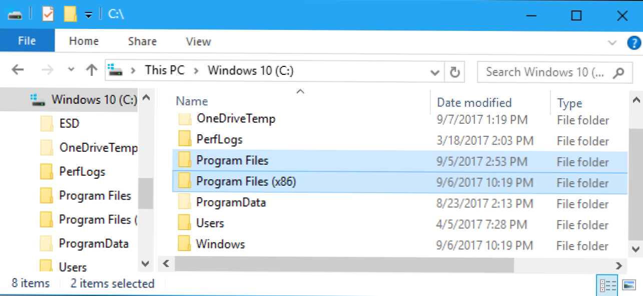 "Koja je razlika između mapa ""Program Files (x86)"" i ""Program Files"" u sustavu Windows? (Kako da)"