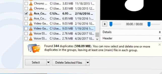 X datoteke za pronalaženje datoteka