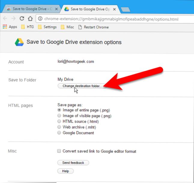 web langsung ke google drive di chrome