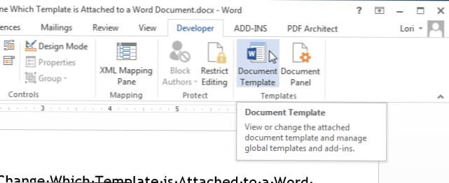 Cara Menentukan Dan Mengubah Template Mana Yang Terlampir Pada Dokumen Word Bagaimana Caranya Kiat Komputer Dan Informasi Berguna Tentang Teknologi Modern