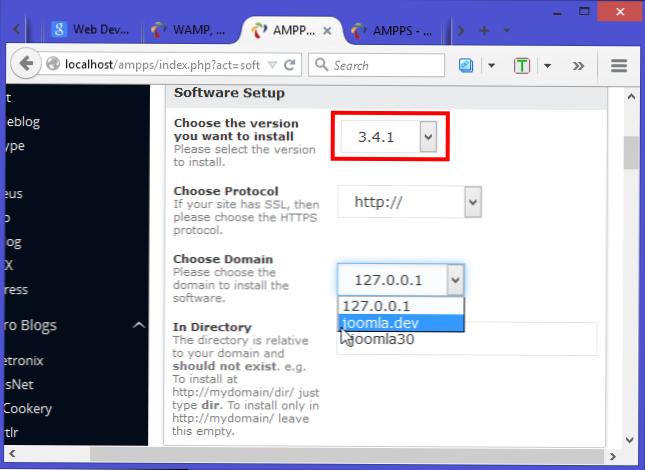 Cara Menggunakan AMPPS untuk Menginstal Joomla Lokal di PC Anda