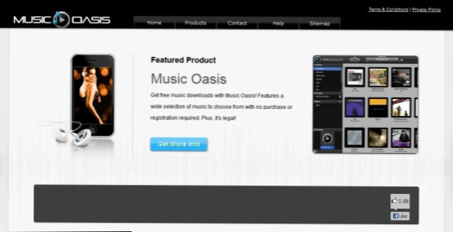Web stranica za komercijalne pjesme