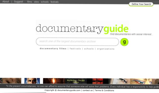 Stranica za dokumentarce