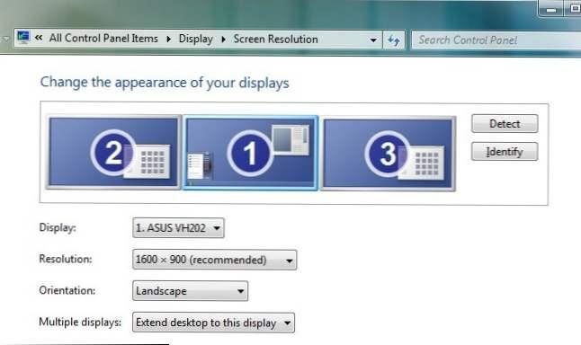 Podłączyć podwójne monitory Windows 7